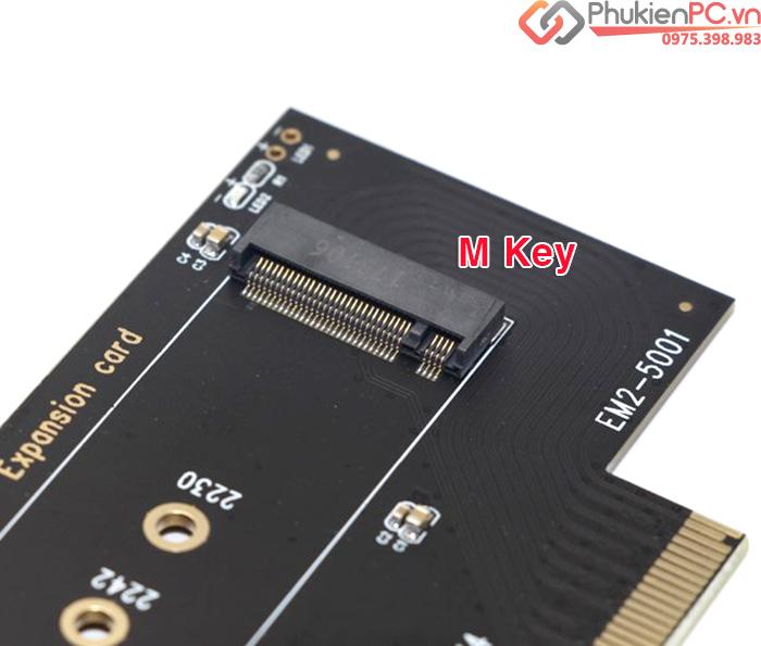 Riser Card ổ cứng SSD M2 NVMe PCIe 2280 to PCI-E 4X