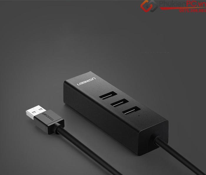 Cáp chia USB 1 ra 3 kèm cổng LAN Ethernet Ugreen 30301