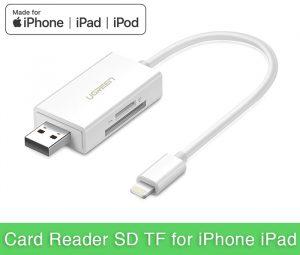 Đầu đọc thẻ SD, TF chuyên dụng cho iPhone, iPad Ugreen 30612