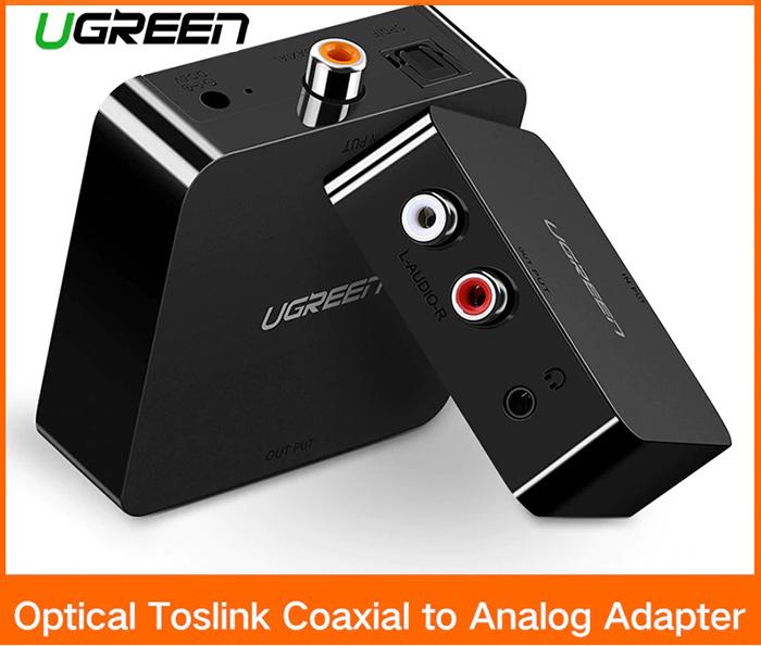 Thiết bị chuyển đổi âm thanh quang Optical sang AV 3.5mm RCA Ugreen 30910