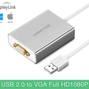 Cáp USB 2.0 sang VGA cho Macbook, Laptop, PC Ugreen 40244
