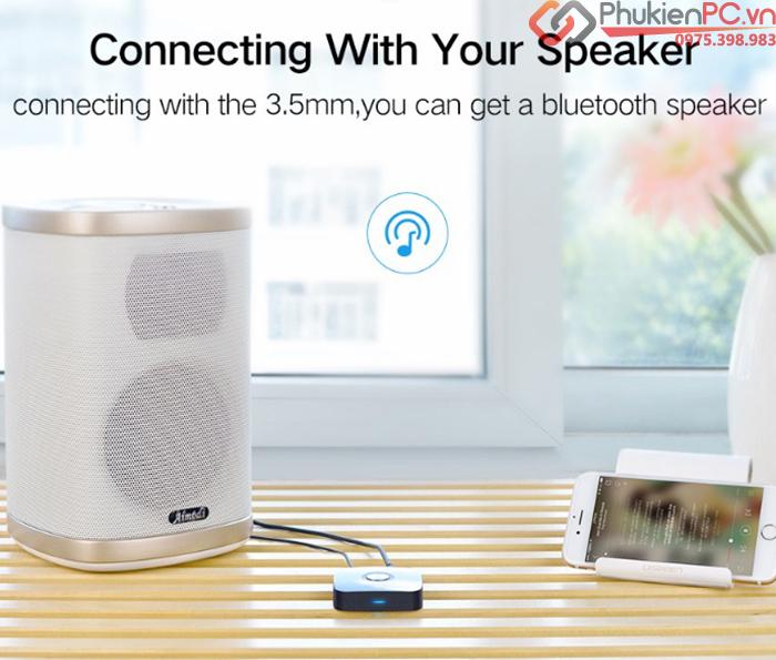 Đầu nhận Bluetooth 4.2 aptX cho loa, âm ly cổng 3.5mm Ugreen 40758