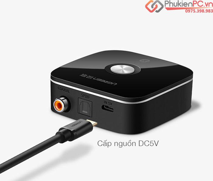 Đầu nhận Bluetooth 4.2 cổng ra Optical, Coaxial cho loa, âm ly Ugreen 40855
