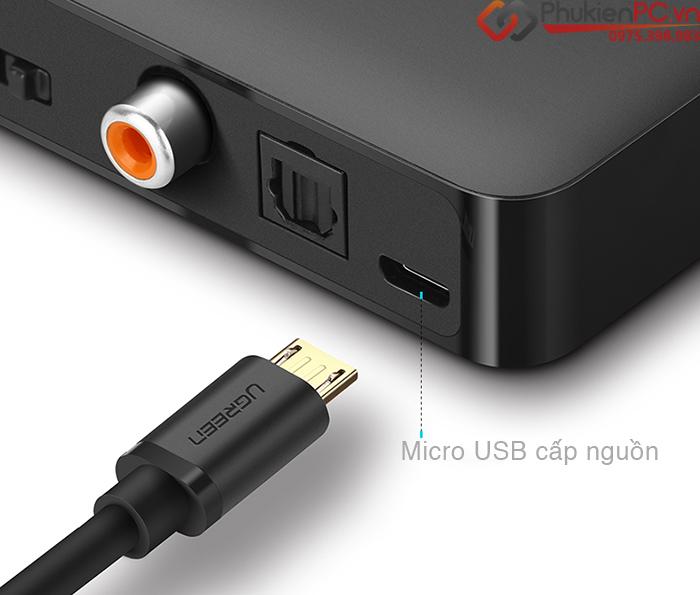 Đầu nhận Bluetooth 4.2 hỗ trợ aptX Analog, Digital Ugreen 40856