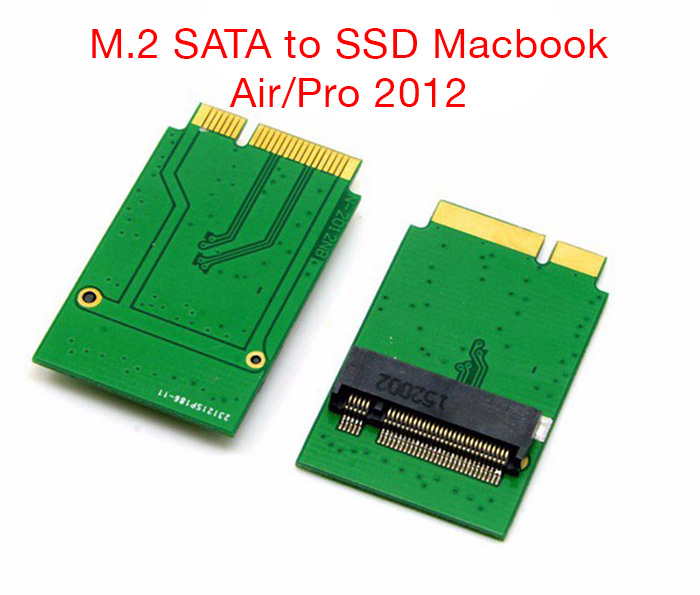 Adapter SSD M.2 SATA 2280 sang SSD Macbook Air, Retina 2012