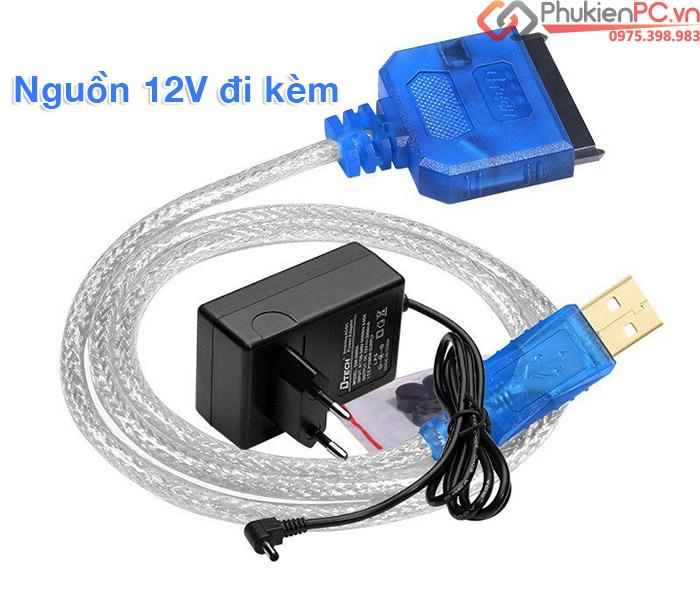 Cáp chuyển đổi USB 2.0 sang SATA HDD, SSD, DVD Dtech DT-5025