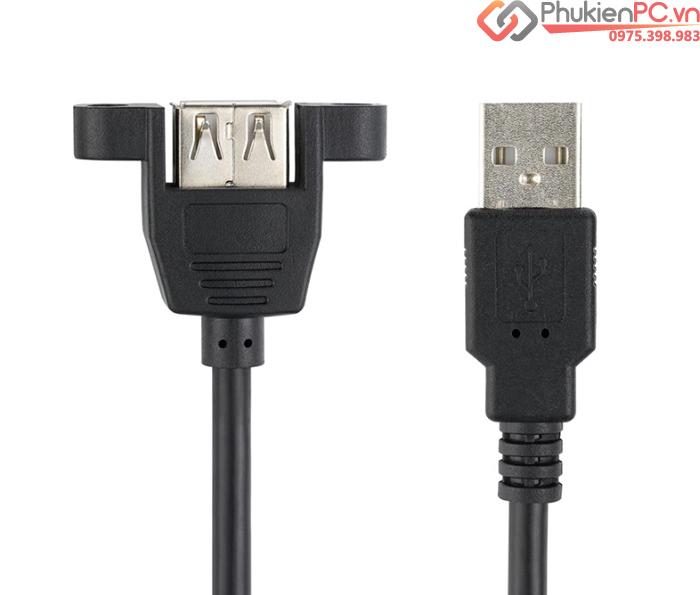 Dây cáp USB 2.0 nối dài đầu đực đầu cái bắt vít