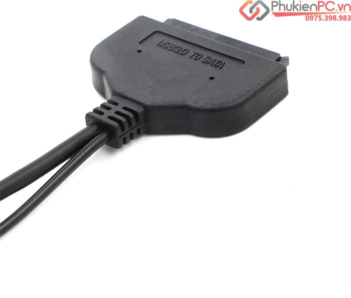 Cáp USB 3.0 sang SATA HDD SSD 2.5 inch hỗ trợ nguồn phụ