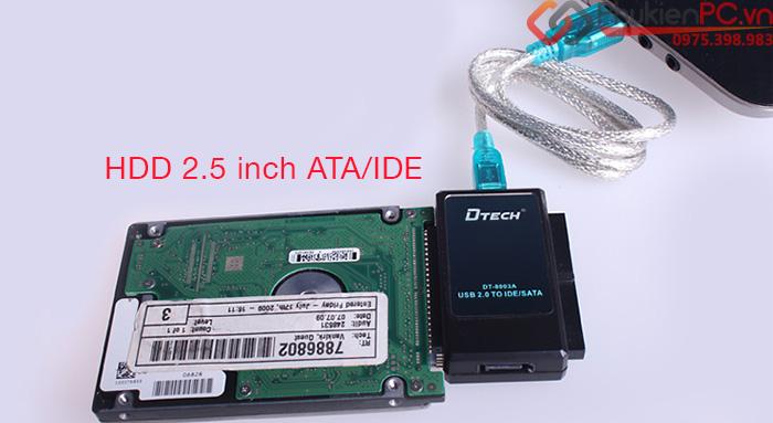 Cáp chuyển đổi USB sang SATA IDE cho HDD SSD DVD Dtech DT-8003A