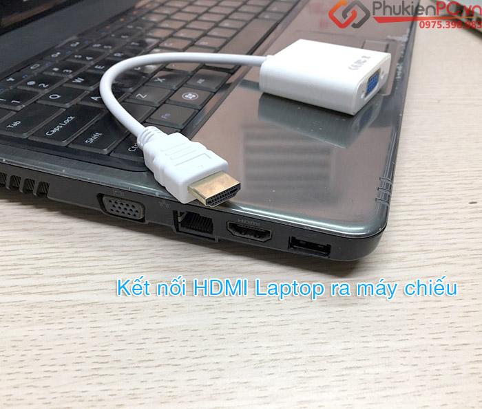 Cáp kết nối Laptop cổng HDMI sang máy chiếu VGA