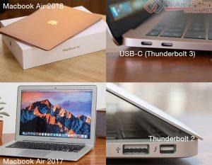Cáp kết nối Macbook Air 2018 ra máy chiếu, Tivi HDMI, VGA