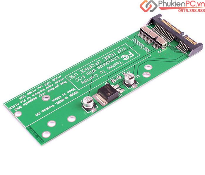 Adapter chuyển SSD Macbook Air, Retina 2012 sang SATA
