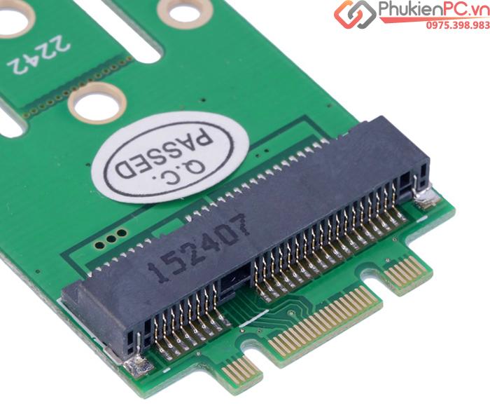 Adapter chuyển đổi SSD mSATA sang M2 SATA 2280