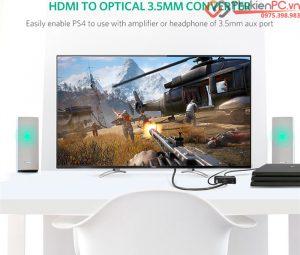 Thiết bị chia HDMI ra âm thanh quang Optical Toslink, HDMI, 3.5mm