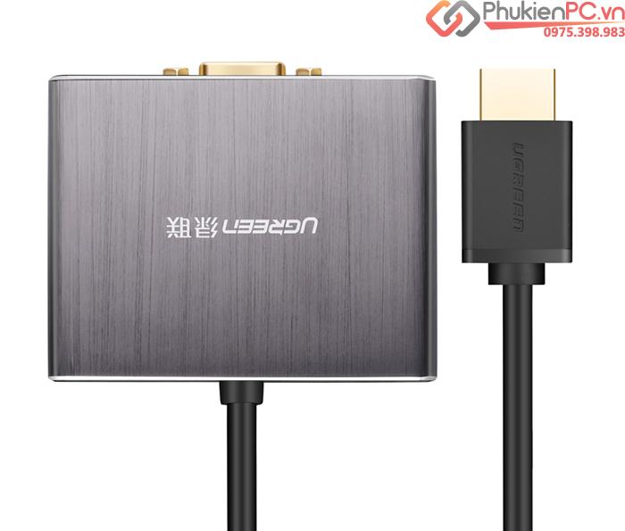 Cáp chia HDMI ra VGA Optical Audio 3.5mm Ugreen 40282