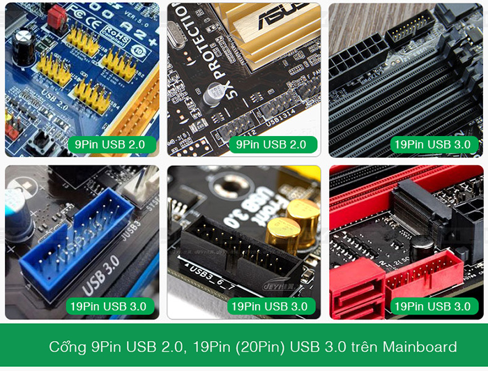 9pin 19pin 20pin header mainboard