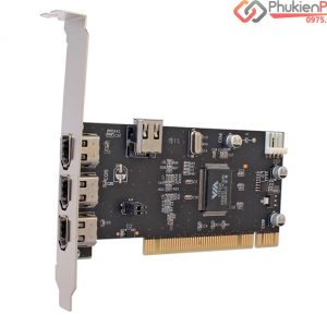 Card PCI Firewire 1394A-600 4 cổng Dtech chính hãng
