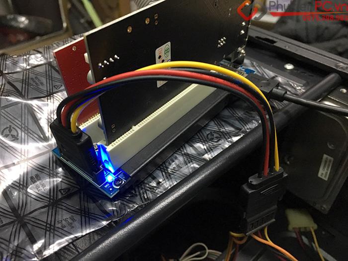 Card chuyển đổi PCIe 1X sang 2 PCI