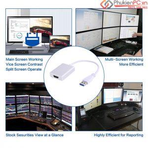 Nơi bán cáp usb 3.0 sang VGA, USB 3.0 sang HDMI giá rẻ, uy tín
