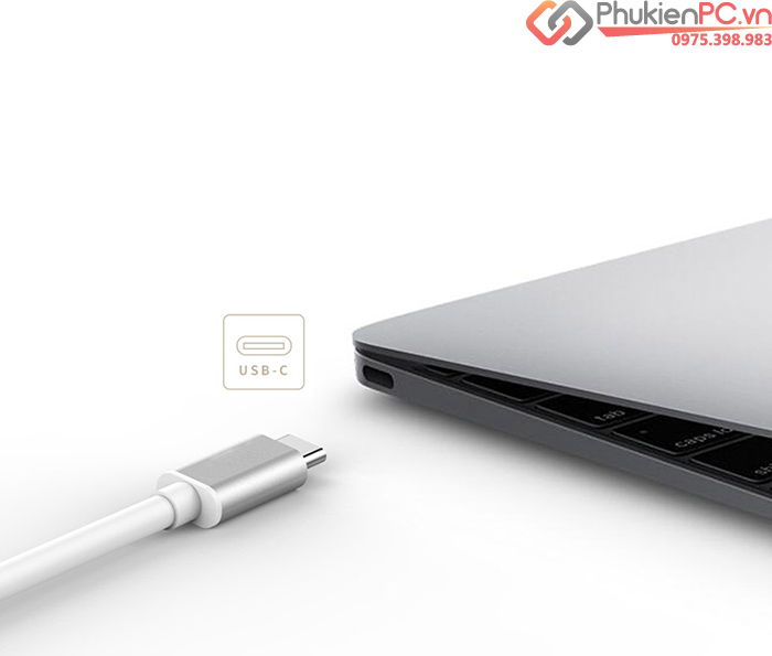 Cáp USB Type C (thunderbolt 3) sang VGA full hd1080p