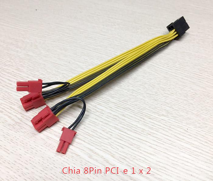 Dây cáp chia nguồn PCIe 8Pin 1 ra 2 8Pin 6+2