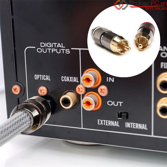 Đầu giắc hàn AV, RCA Monster 6mm