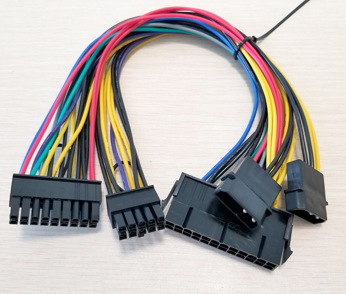 Dây nguồn 24Pin to 18Pin, ATA to 10Pin cho HP Z800 Mainboard