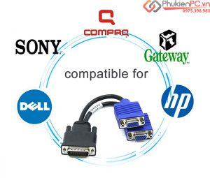 Các loại cáp chuyển đổi DMS 59 (DVI59) sang DVI/VGA giá rẻ tại Hà Nội