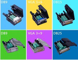 Cung cấp đầu bấm DB9 DB15 DB25 VGA đầu nối DB các loại giá tốt