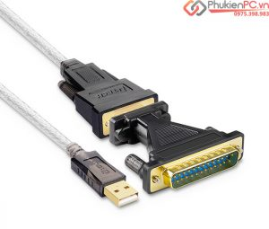 Bán dây cáp DB9 Female to DB25 Male, USB sang DB25 đực