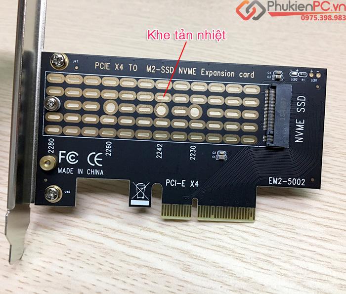 Riser Card SSD M2 NVMe to PCI-E 4X