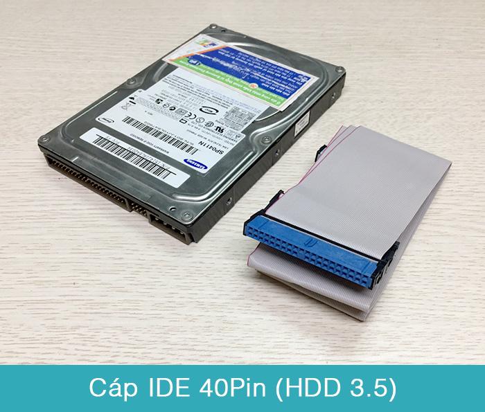 Cáp dữ liệu ATA IDE 40Pin cho HDD 3.5 DVD ROM
