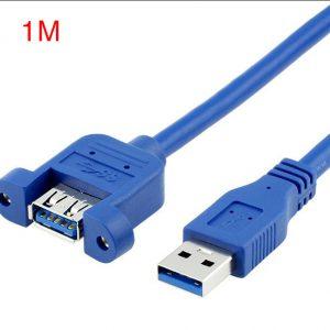 Cáp nối dài USB 3.0 Male to Female đầu bắt vít 1M