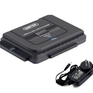 Cáp chuyển đổi ổ cứng HDD SSD DVD SATA IDE/ATA sang USB 3.0 Unitek Y-3322. Dùng kết nối các loại ổ cứng, ổ đĩa quang vào máy tính bàn PC, Laptop, Macbook