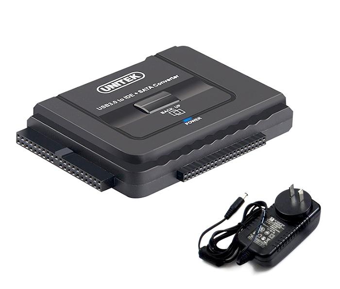 Cáp chuyển đổi ổ cứng HDD SSD DVD SATA IDE sang USB 3.0 Unitek