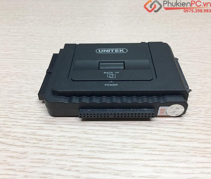 Cáp chuyển đổi ổ cứng HDD SSD DVD SATA IDE/ATA sang USB 3.0 Unitek Y-3322