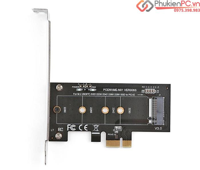 Card gắn ổ cứng SSD M2 PCIe NVMe 2280 to PCI-E 1X