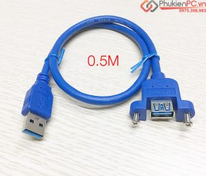Cáp nối dài USB 3.0 bắt vít AM-AF 0.3M 0.5M 1M 1.5M 3M