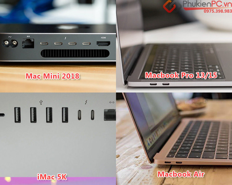 Cáp chuyển USB-C (thunderbolt 3) sang thunderbolt 2