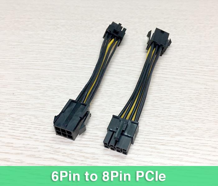 Dây cáp chuyển nguồn 6Pin sang 8Pin cho Card PCIe