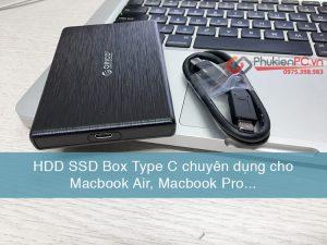 Box HDD SSD 2.5 Type C chuyên dùng cho Macbook Pro, Macbook Air