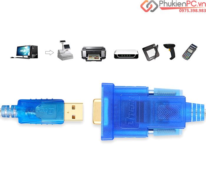 Cáp chuyển đổi USB to RS232 Female