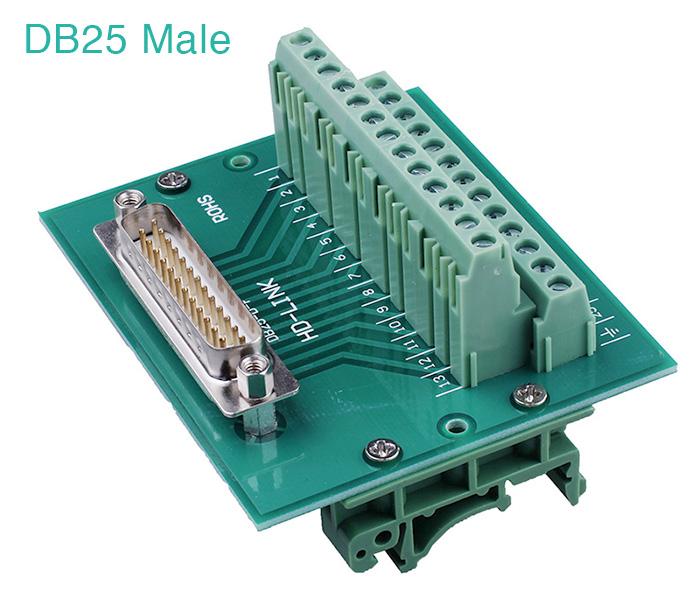 Đầu bấm vặn vít DB25 chân đực Male – Terminal Block