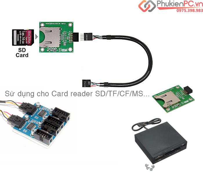 Bộ chia cổng USB 9Pin trên Mainboard 1 ra 2