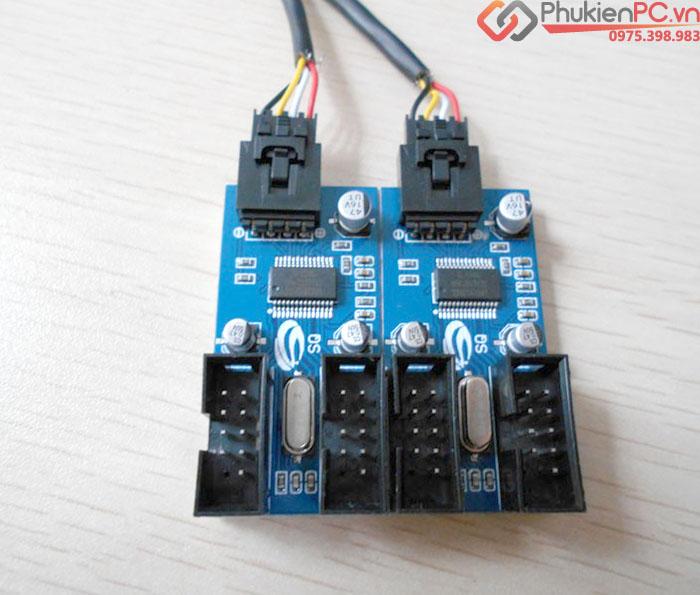 Bộ chia cổng USB 9Pin trên Mainboard 1 ra 4
