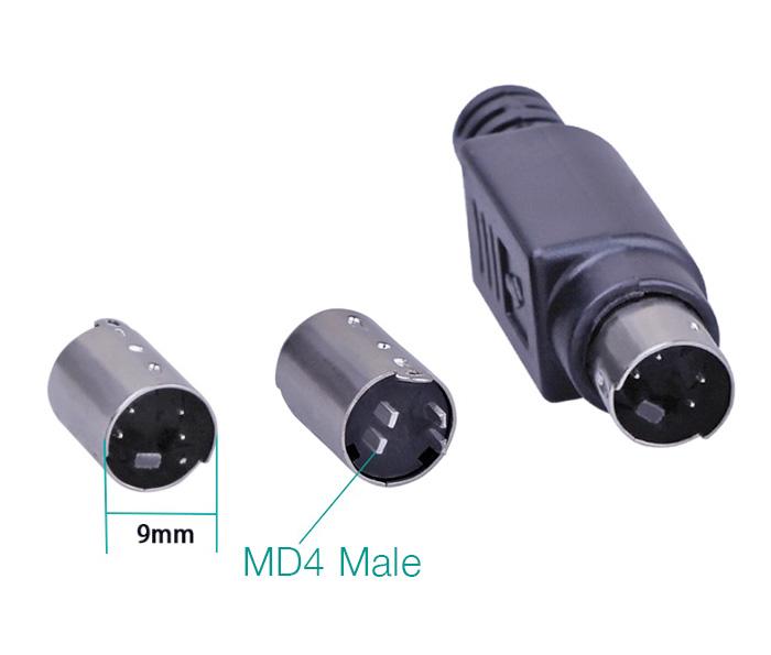 Đầu hàn S-Video 4Pin (mini din MD4) chân đực kèm vỏ ốp
