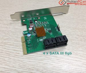 Card PCIe 4x mở rộng 4 SATA III tốc độ chuẩn full 6GB