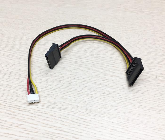 Cáp nguồn iTX 4Pin 2.5mm sang 2 SATA HDD SSD
