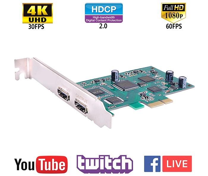 Card PCI-e to HDMI Capture 1080P60hz hỗ trợ SDK ghi hình Live Stream