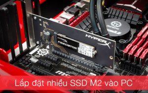 Thiết bị lắp đặt nhiều SSD M2 PCIe NVMe vào máy tính bàn, server